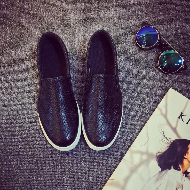 Women Leather shoes For Woman Black Loafers
