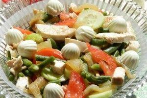 Salata cu piept de pui si legume - Culinar.ro