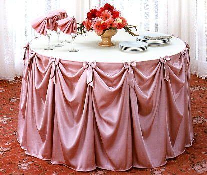 wedding table skirting
