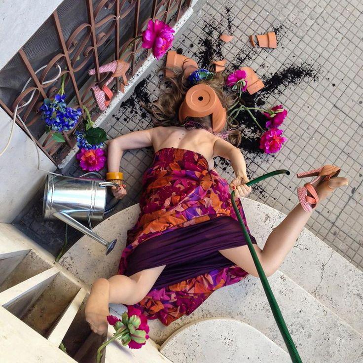 креативные фото с цветами наслаждаться