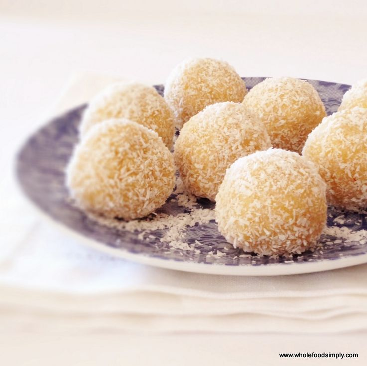 Lemon Balls - Wholefood Simply Or I could use all those sweet limes I have  :)