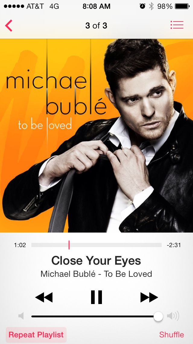 Michael Buble - Close Your Eyes (possible wedding song/first dance song)