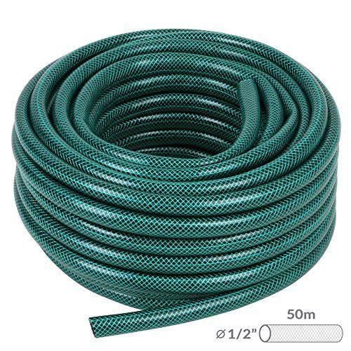 Jago – Tuyau d'Arrosage Flexible en PVC (Diamètre 1.6 cm, Longueur 50 m): Vous ne devrez plus porter des seaux lourds depuis la fontaine du…