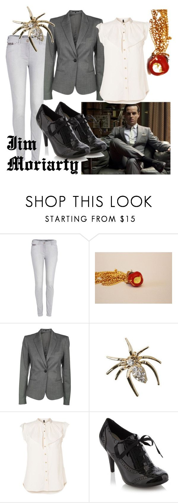 """Jim Moriarty Reichenbach Fall"" by fandom-wardrobes ❤ liked on Polyvore featuring River Island, Theory, Briolette, Reichenbach, Vero Moda, jim moriarty, james moriarty, sherlock and reichenbach fall"