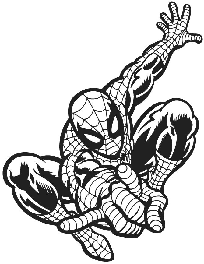 Spider Man Unlimited Coloring Pages. Cool Spider Man Superhero Coloring Page for kids 13 best Projects to Try images on Pinterest  books