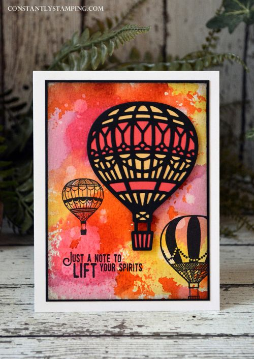 Lift Me Up, Up & Away thinlits, ink refill smoosh background