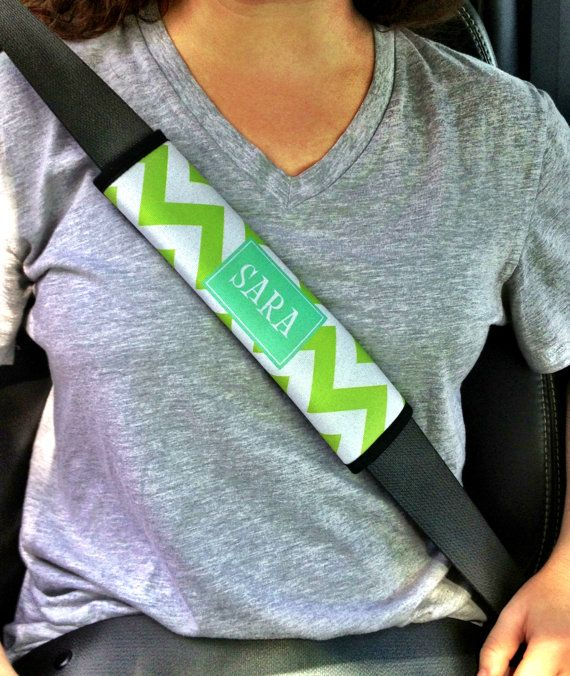 Fabulous personalized seatbelt strap designed for you by Etsy seller rrpage. Shop more decorative car accessories at CarDecor.com.