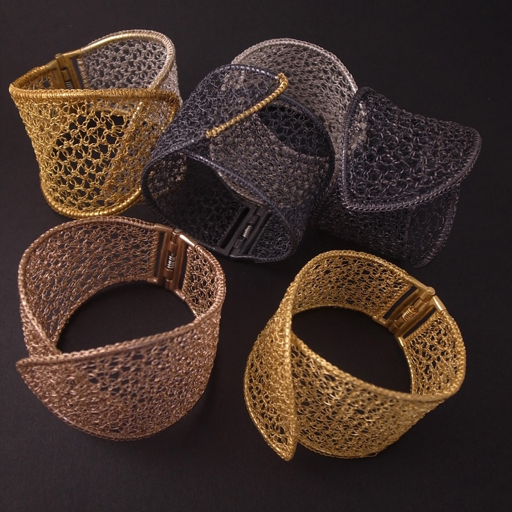 Knitting With Metal Wire : Best jewelry wire crochet knit images on pinterest