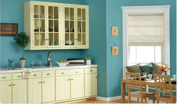 Classic Kitchen With A Modern Touch Featuring Dutch Boy Slight Yellow