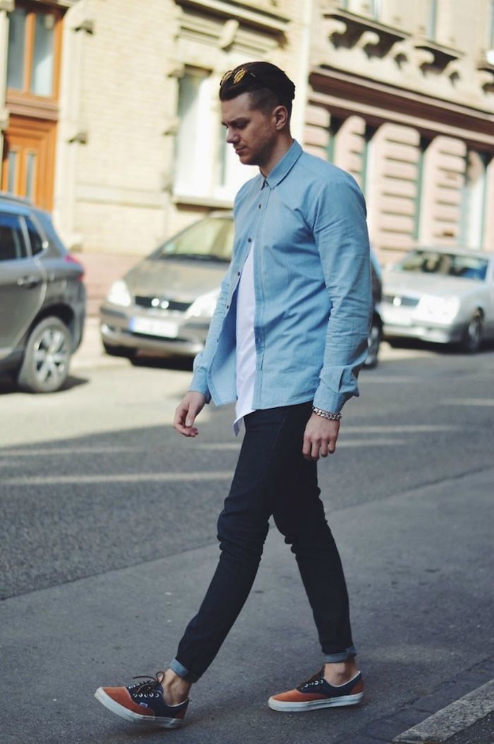 f64bd3965cfe3 ▷ 1001+ idées   패션 봄가을   Pinterest   Denim Shirt, Jeans 및 ...