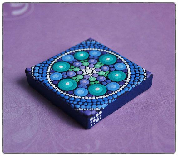 Mini Original Painting Jewel Drop Mandala Spring by Elspeth McLean