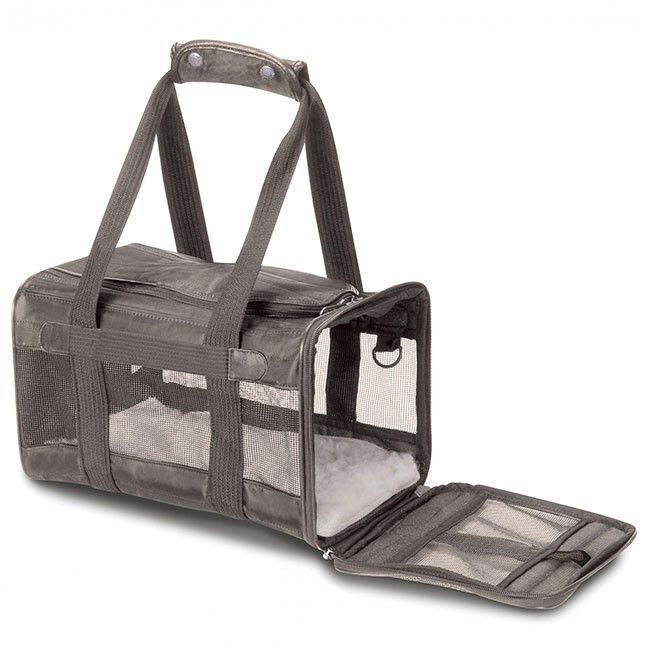 Description The original and best soft-sided small dog carrier approved for on-board airline use. The Sherpa Original Deluxe Pet Carrier Gray is specially designed for easy maintenance, use and comfor