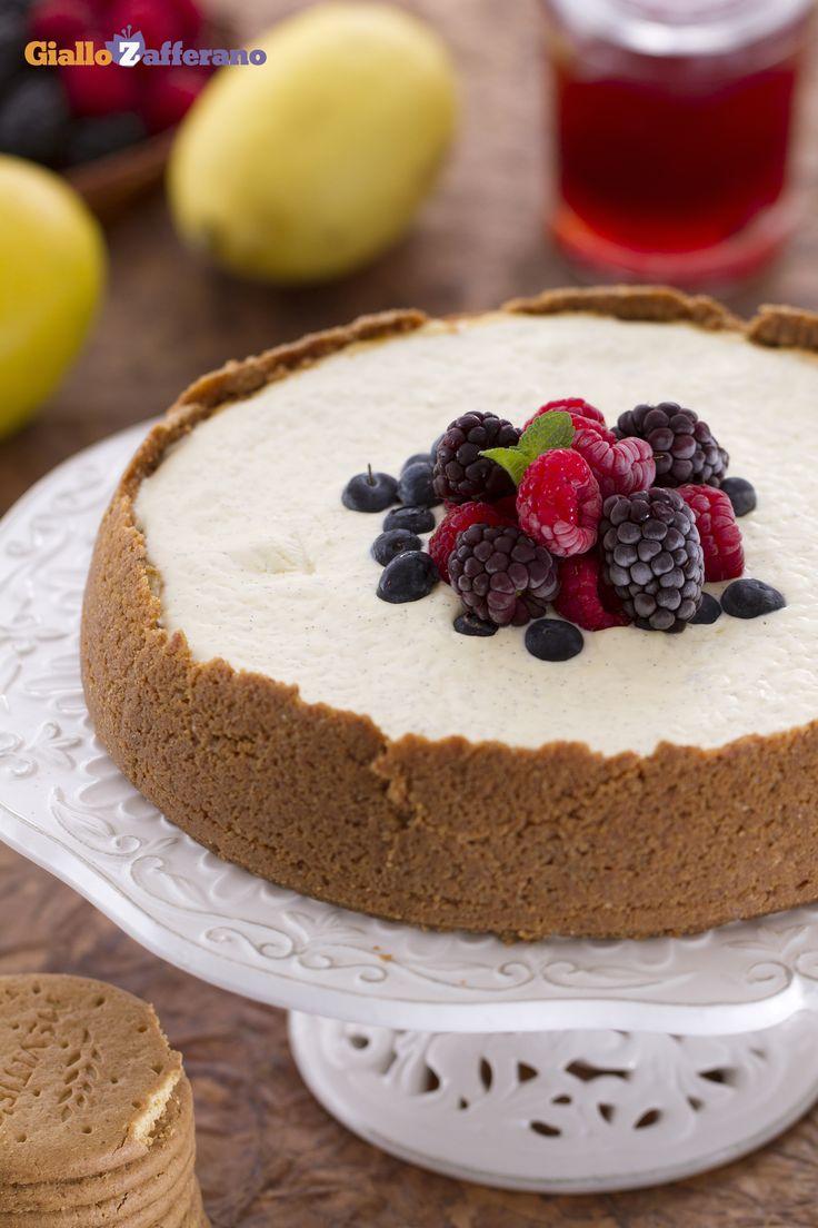 Lei è la famosa #NewYork #cheesecake, il dolce che fa impazzire l'America e tutto il mondo! #ricetta #GialloZafferano