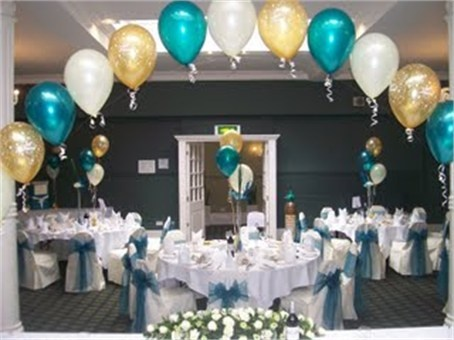 Gold Teal And White Wedding Arch Gold Party