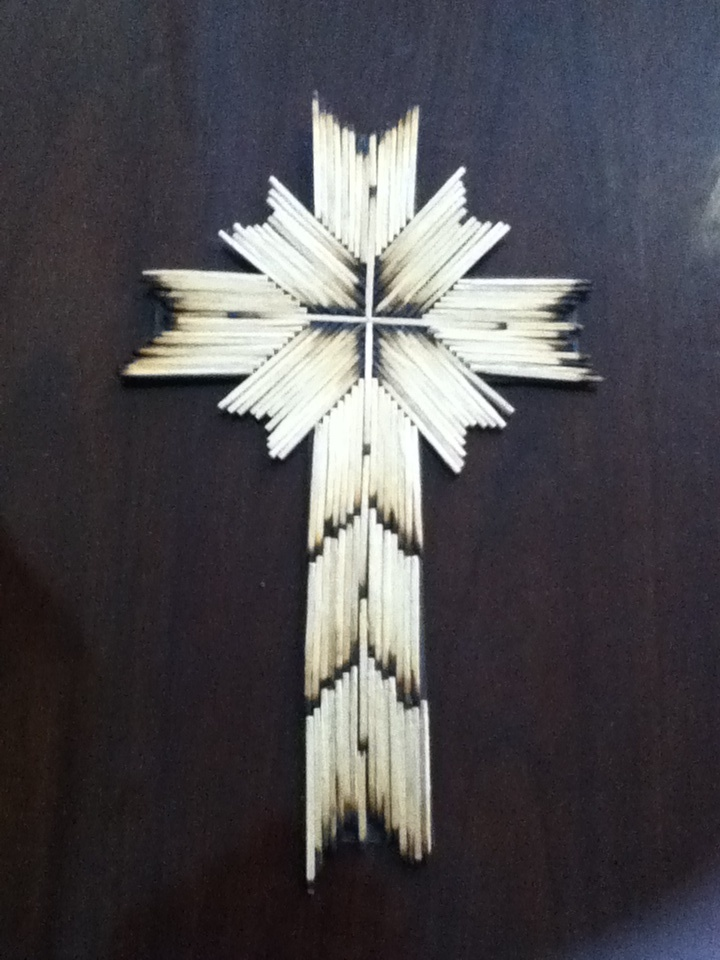 Burnt Match Cross Perfect Craft For Lent Cut Out The