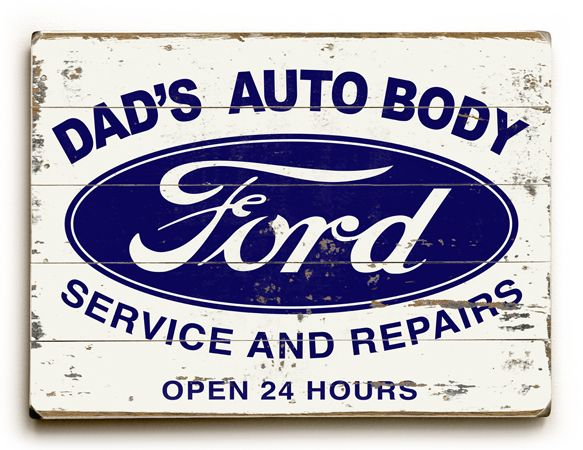 Vintage Ford graphics.