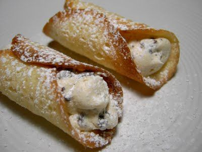 Vegan Cannolis, with Chocolate Chip Cheese Filling
