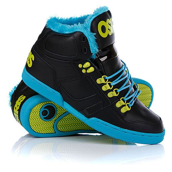 Мне нравится Кеды зимние Osiris Nyc 83 Shr Black/Teal/Lime (5130р.) на... ❤ liked on Polyvore featuring shoes