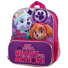 """Nickelodeon Paw Patrol Skye and Everest """"Ready For Action"""" 10 inch Backpack with 2 Mesh Side Pockets 