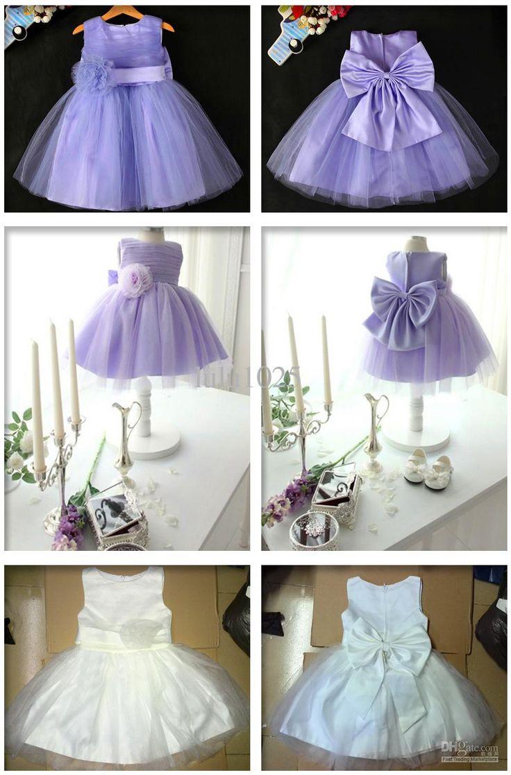 * Flower Baby/Girls' Dresses,White/Purple Children Wedding Dress,Big Bowknot Princess Tutu Dress,Kids Birthday/Party Dress Flowergirls Dresses Girls Boutique Dresses From Lulu1025, $17.09| Dhgate.Com