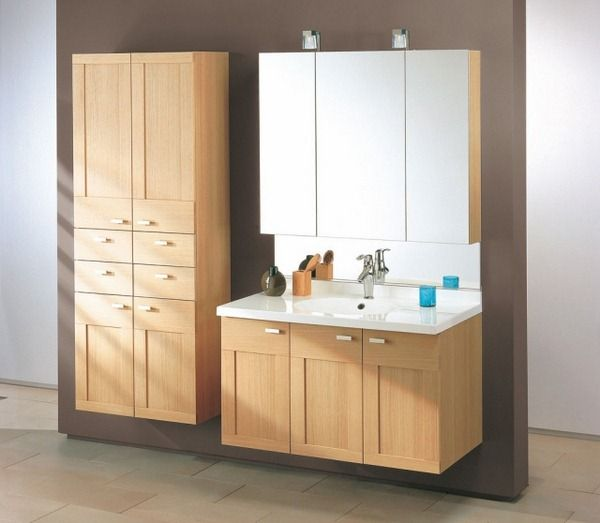 Make Photo Gallery Wooden bathroom furniture set classic bathroom mirror cabinets MERIDIEN