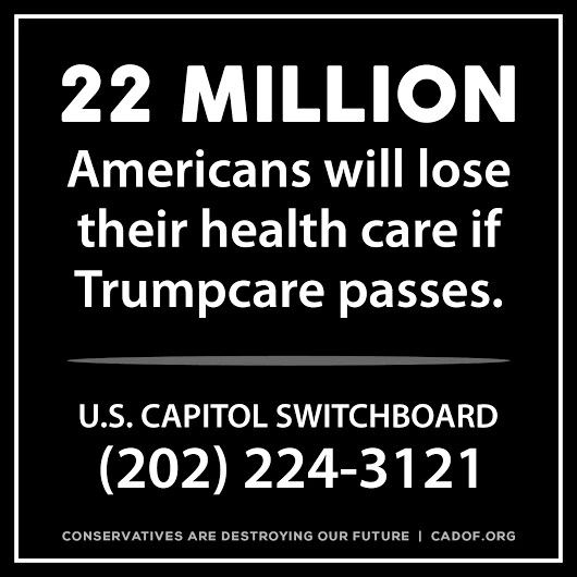 RISE UP. REVOLT. THIS IS UTTER BULLSHIT - WE NEED OUR HEALTH CARE!