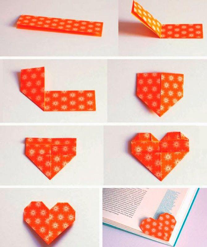 Marcador de página coração