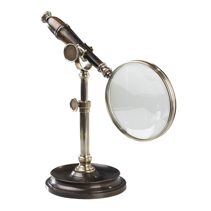 Authentic Models Magnifying Glass with Stand - Bronzed