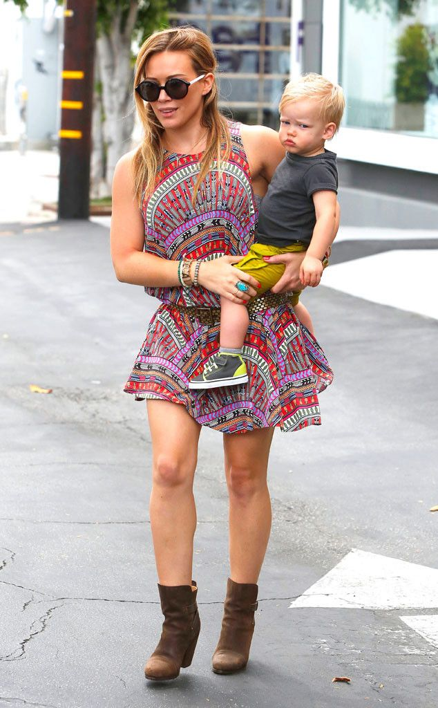 Hilary Duff and her adorable son Luca from The Big Picture: Today's Hot Pics! | E! Online