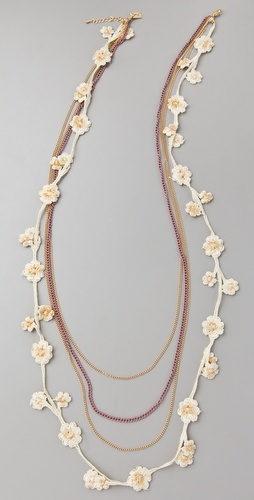 Juliet & Company  Crochet en Soie Necklace