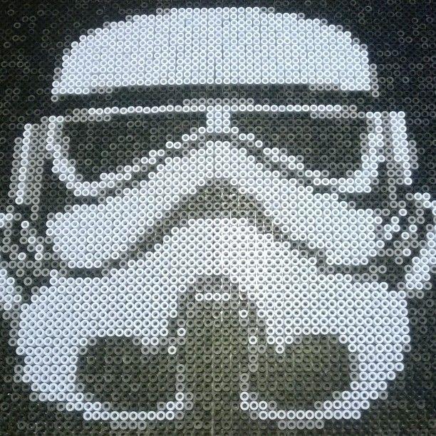 Stormtrooper Star Wars hama perler beads by sofievindum