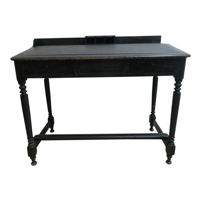 black victorian desk