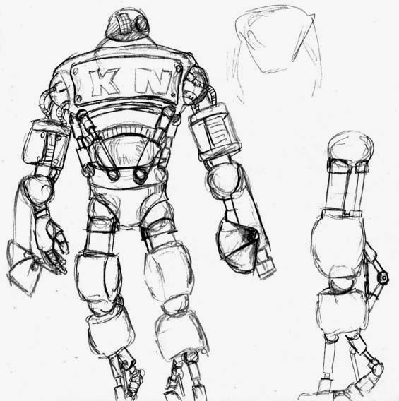 Acquisition sketches Here are some of the sketches I did for the KN Corporation droid, and the target from the most recent page of Acquisit...