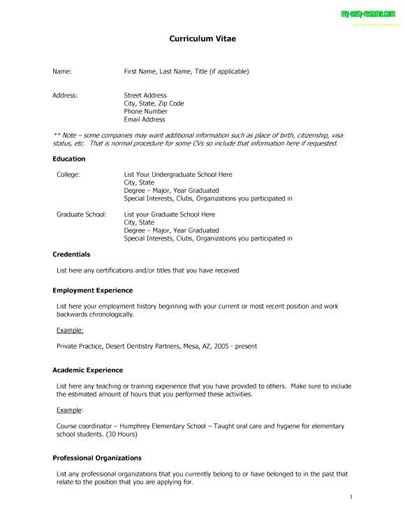 Free Resume Templates No Charge Free Resume Templates Pinterest