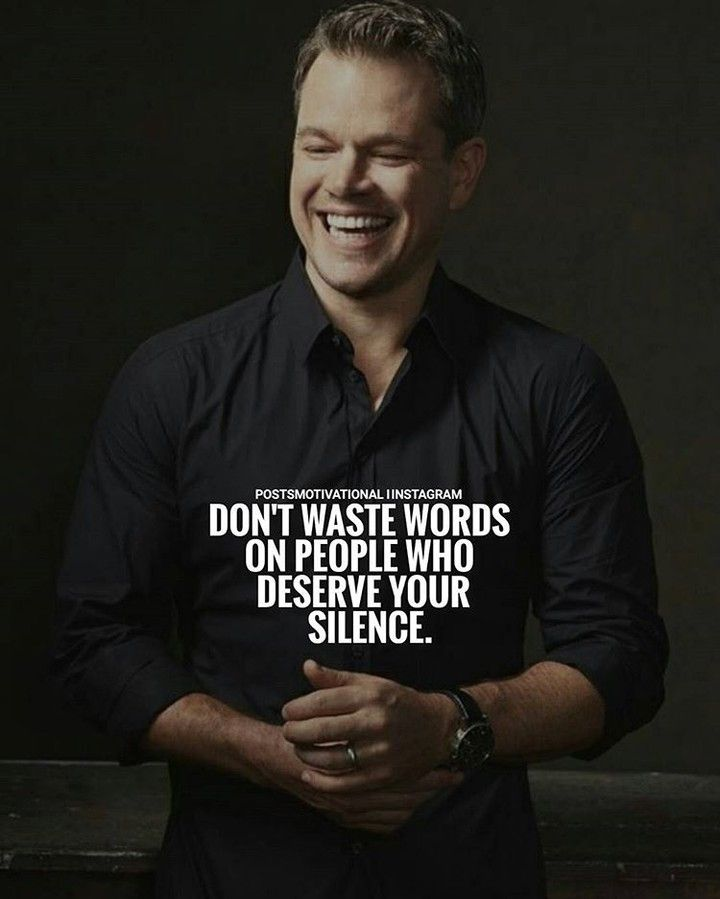 Sometimes silence says more than words.