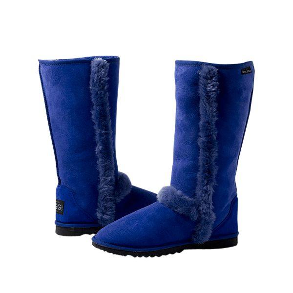 Arctic Tall Ocean Blue Boots, Australian Made Sheepskin, #aussie #australianmade #sheepskin #boots #tallboots #shoedreams #comfy #cute #warm #indoors #home #outdoors #shoesaholic #ocean #oceanblue #blue #oceanblueboots #blueboots #styling #fashion #outfit #fashioninspiration