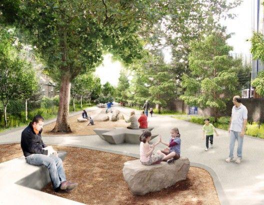 Public Realm Plan Proposal / Feilden Clegg Bradley Studios + Grant Associates