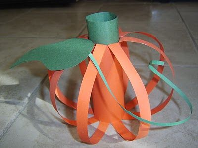 Want to check the paper pumpkin out later Pumpkin craft for preschoolers.