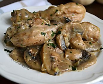 Pollo con crema di funghi ricetta facile per un piatto da Chef!