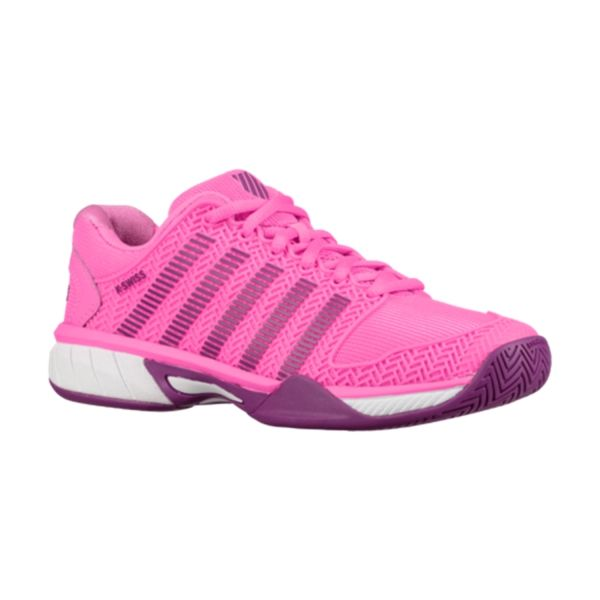 586c6f4e1b7b4 K-Swiss Junior Hypercourt Express Tennis Shoe (Neon Pink/Black ...