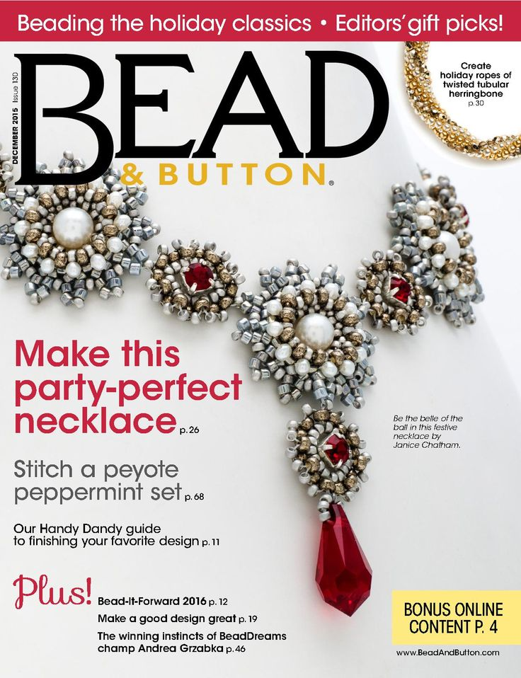 BEAD & BUTTON №130 2015 Use this pin--PH