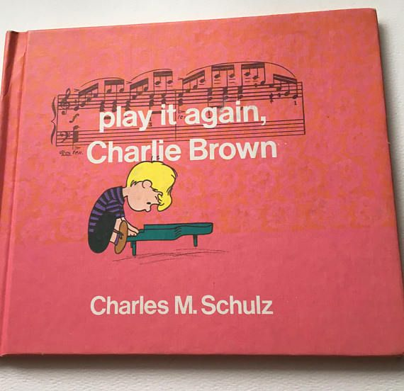 Play It Again Charlie Brown Charles M. Schulz Hard Cover