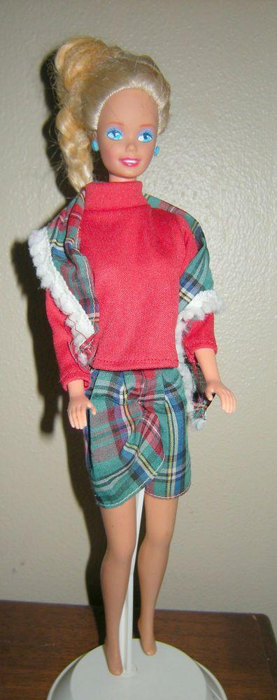 Barbie Doll, 1976 with Blonde Sun Streaked Hair, Blue Earrings GUC #Mattel #Dolls