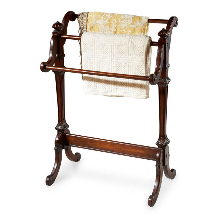 Newhouse Traditional Blanket Stand Dark Brown