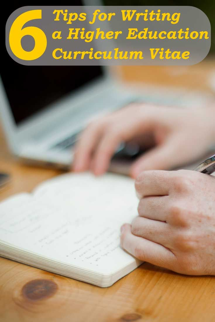 These academic CV or resume writing tips will help you to develop a solid higher education curriculum vitae to secure a position as a college instructor or university professor
