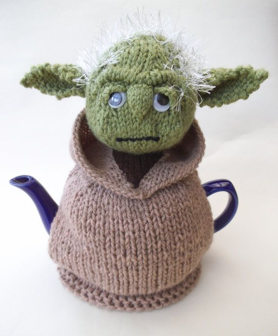 Star Wars Yoda Tea Cosy Knitting Pattern and more Star Wars inspired knitting patterns at http://intheloopknitting.com/star-wars-knitting-patterns/