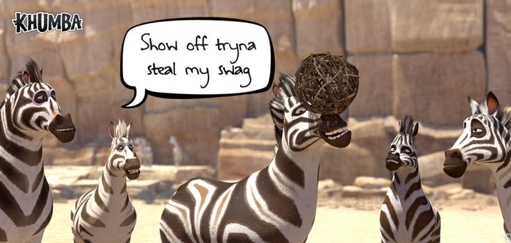 """Congrats to Ashwari D Bansee!!!  We loved your Caption!  You sure """"Earned your Stripes"""" and WON the Challenge in last Thursdays FUN CHALLENGE !  (((( Whhooopp))))) #TheThembaChallenge #CaptionThis1  Have you heard the NEWS… Ssshhhh, we are letting the """"zebra"""" out the """"bush""""  ALL NEW KHUMBA GAMES are COMING SOON!!  www.khumbamovie.com"""
