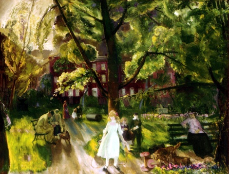 Gramercy Park - George Bellows (1882-1925)