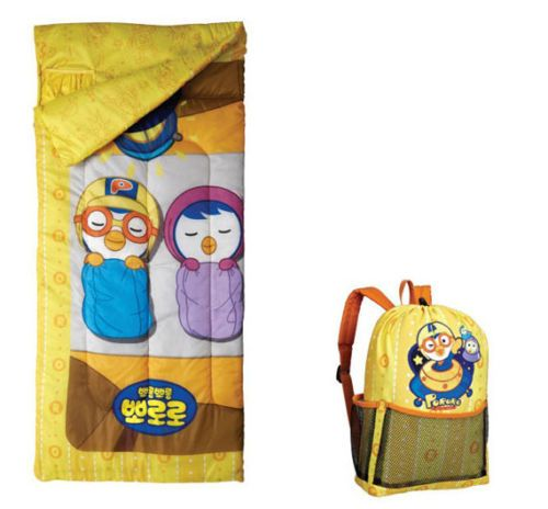 Pororo Sleeping Bag Outdoor Hiking Camping Children Kids Character Quilt Blanket