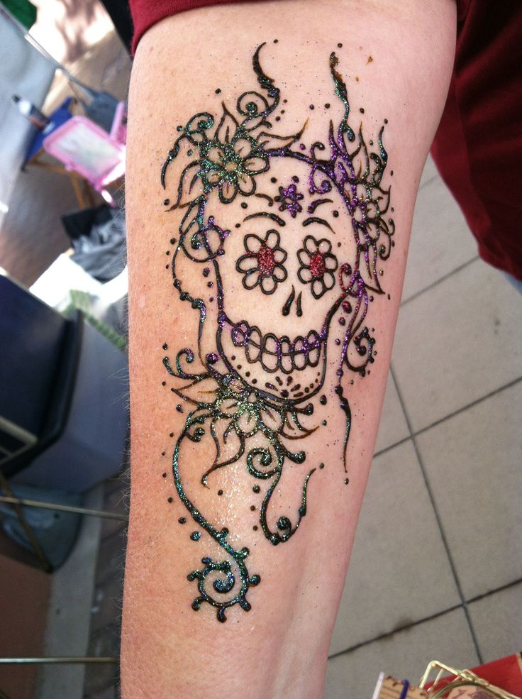 Skull Henna Tattoo: Henna By Cynthia Ann McDonald
